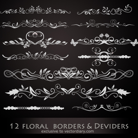 Floral Borders & Dividers