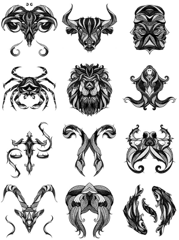 Zodiac - Tattoo Designs