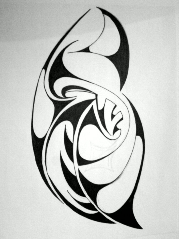 Tribal Bean - Tattoo Design
