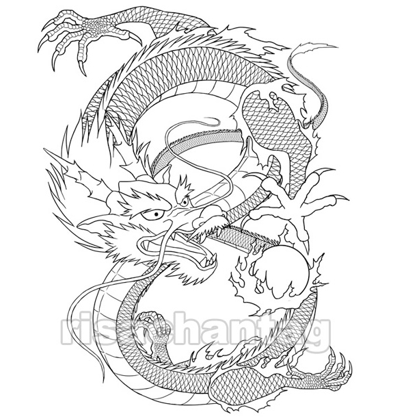 Free Coloring Pages Of Dragon Outline