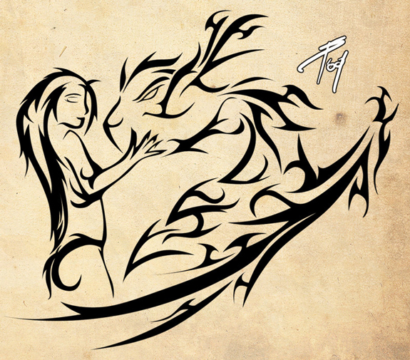 Lovers - Tattoo Design Ideas