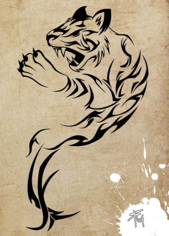 Tiger Tattoo Design Idea