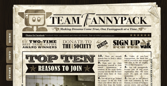 Vintage and Retro Website Designs