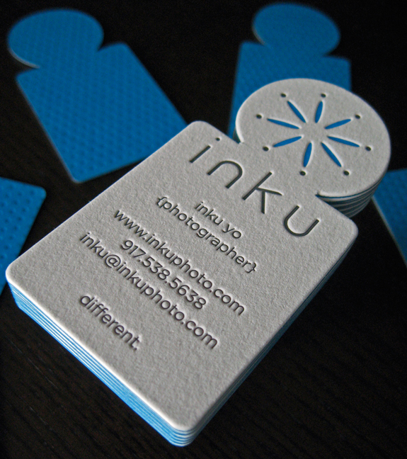 Die Cut Business Card Design