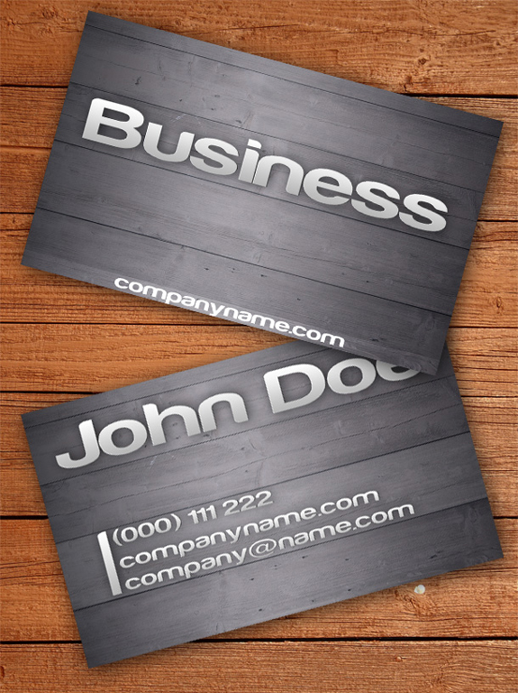Wooden Business Card