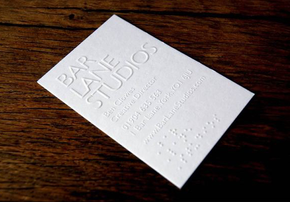 Emboss Business Card