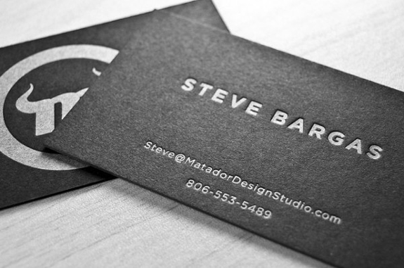 Letter-Pressed Business Card