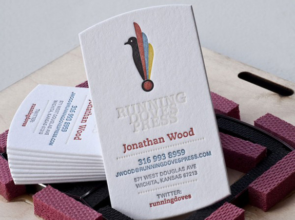 Letter-Pressed Business Cards