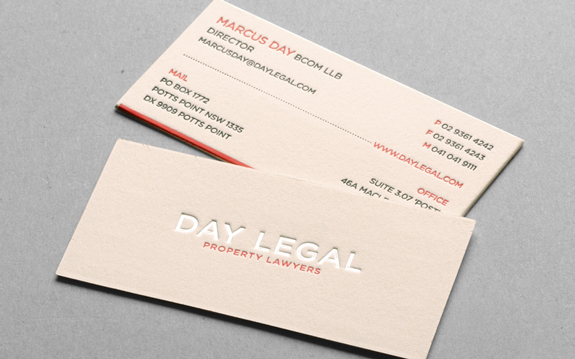 Letter-Press Business Cards