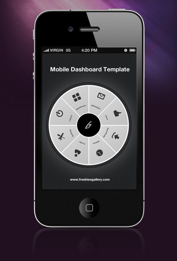 Mobile Dashboard Template Photoshop Creative Freebies Resources