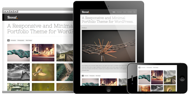 Reveal - Responsive WordPress Portfolio Theme