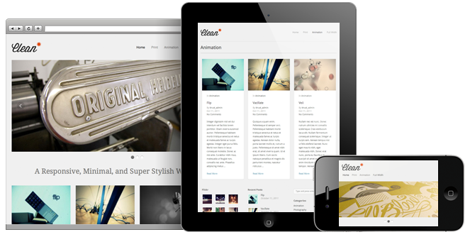 Clean - Responsive WordPress Portfolio Themes