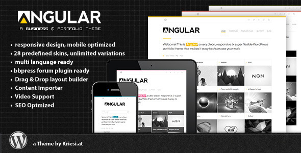 Angular - Responsive WordPress Portfolio Themes
