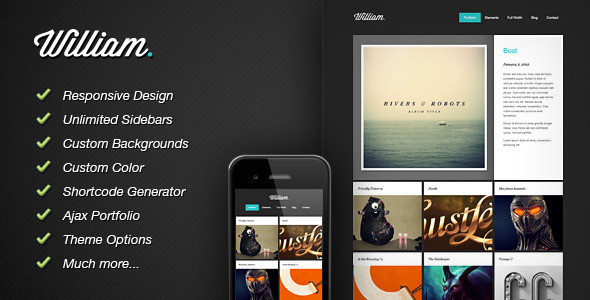 William - Responsive WordPress Portfolio Theme