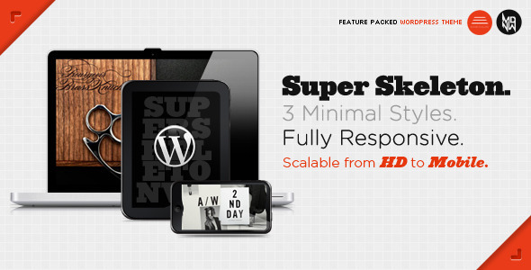 Super Skeleton WP - Responsive WordPress Portfolio Theme