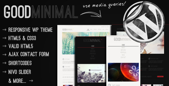 Good Minimal - Responsive WordPress Portfolio Theme