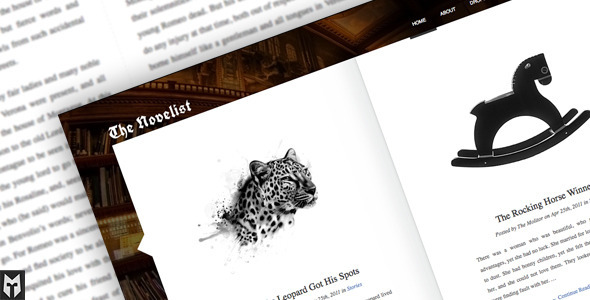 The Novelist - Responsive WordPress Portfolio Theme