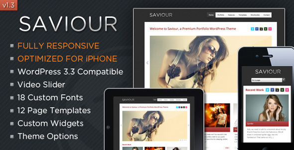 Saviour - Responsive WordPress Portfolio Theme