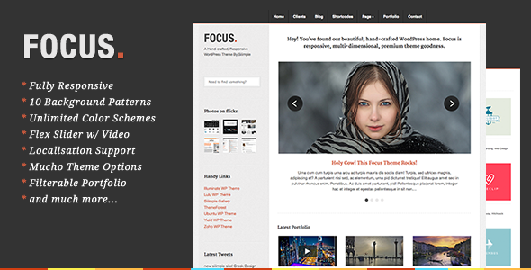 Focus - Responsive WordPress Portfolio Theme
