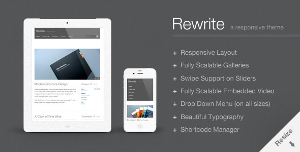 Rewrite - Responsive WordPress Portfolio Theme