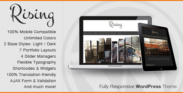 Rising - Responsive WordPress Portfolio Themes