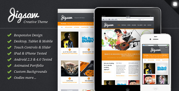 Jigsaw - Responsive WordPress Portfolio Theme