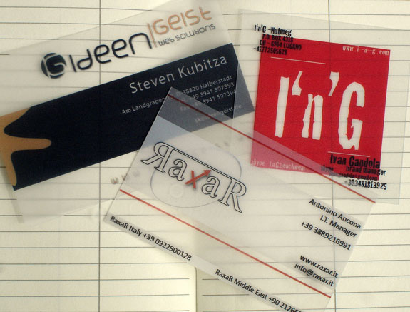 Transparent Business Cards Designs