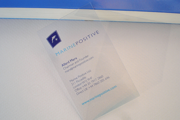 Clear Transparent Business Card