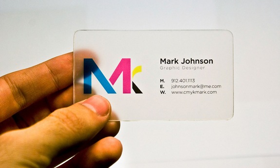 Clear Business Card Design