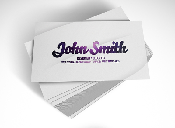 Clear Business Cards Design