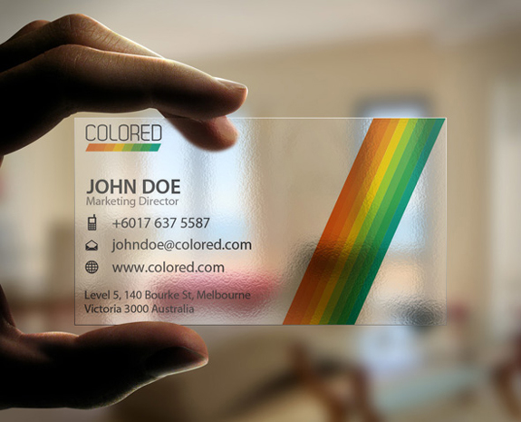 Clear Plastic Business Cards Designs