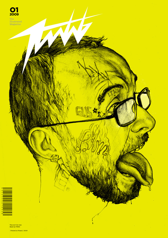 Yellow Magazine Cover Design