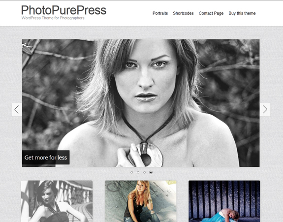 Photo WordPress Gallery Theme