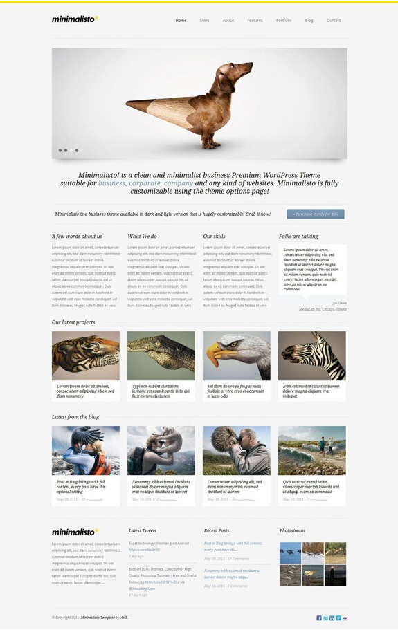 Beautiful Minimalist WordPress Theme