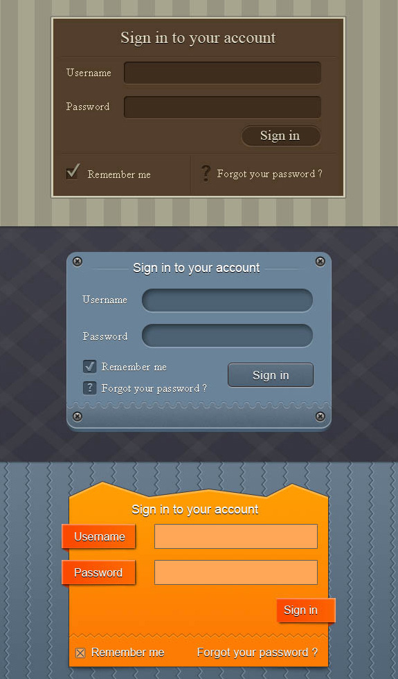 Login Page Templates