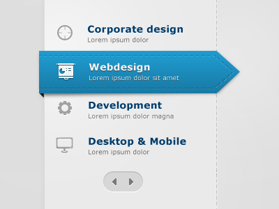 Web Page Menu Design