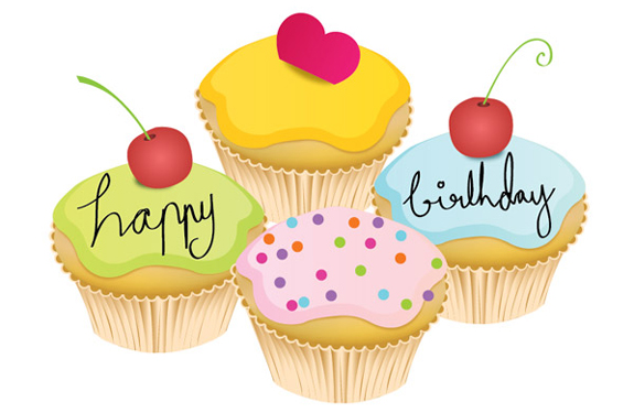 SMALL BIRTHDAY CAKE VECTOR