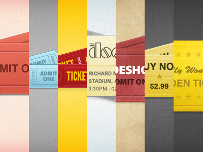ticket template 03 Beautiful Collection of Ticket Template