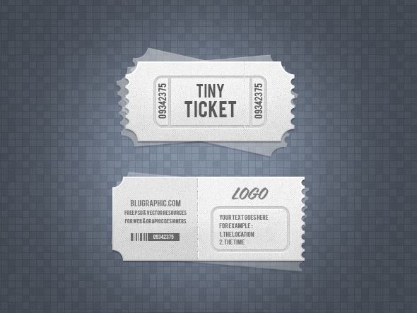 Ticket Template - PSD Download