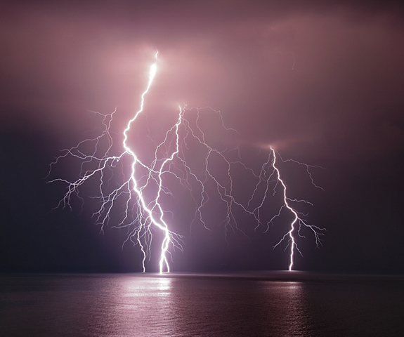 Thunderbolt Over the Sea - Lightning Photography
