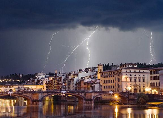 Thunderstorm Over Florence - Lightning Photography