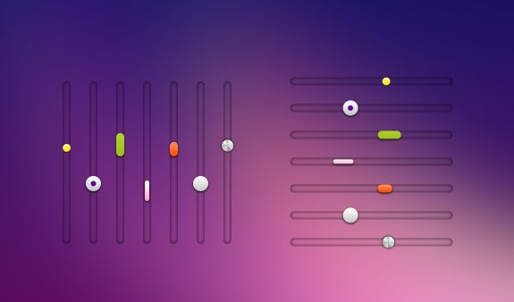 Scrollbar – Sliders PSD