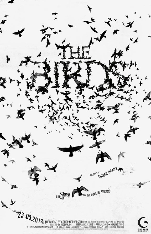 The Birds - Typography Poster
