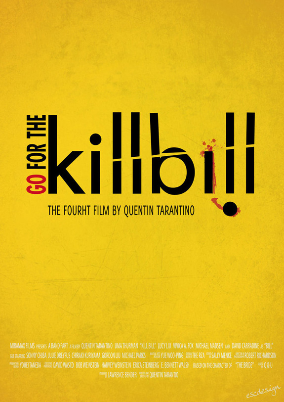 Kill Bill - Typography Poster