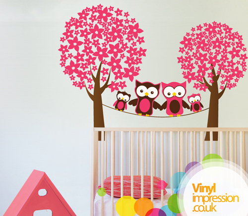Owls in the Trees - Wall Stickers