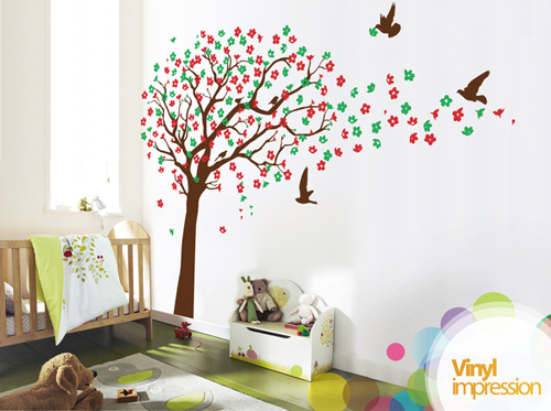 Children's Cherry Blossom - Wall Stickers
