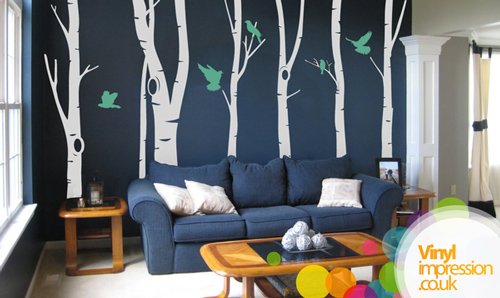 Birch Tree Forest - Wall Stickers