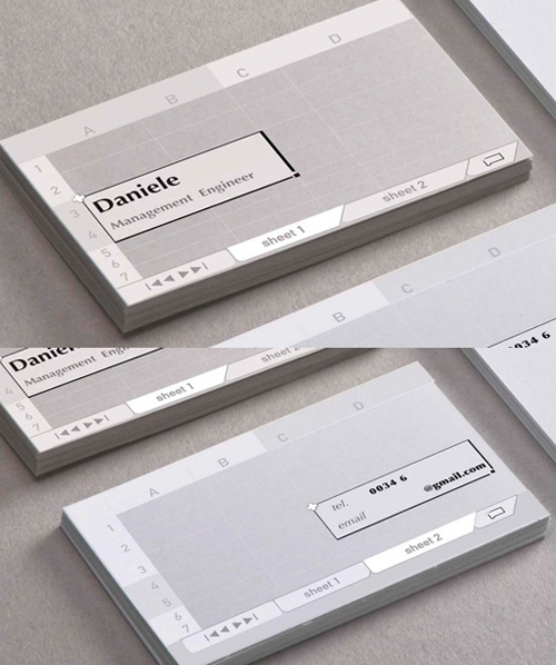 Excel Business Card Design