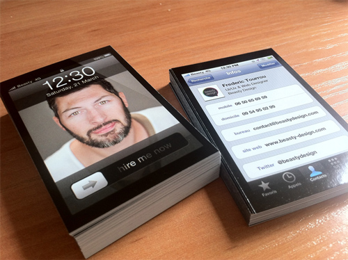 iPhone Business Cards Design