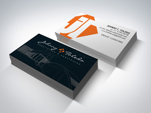 Architect Double-Sided Business Card Design